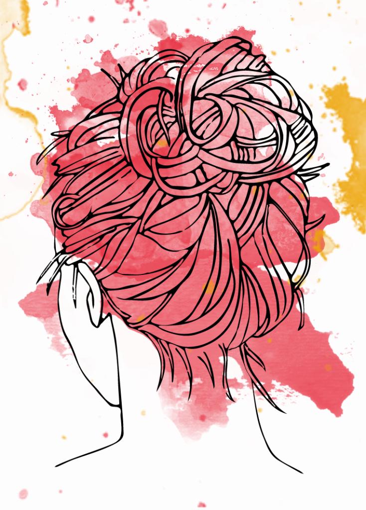 messy bun, summer hairstyle