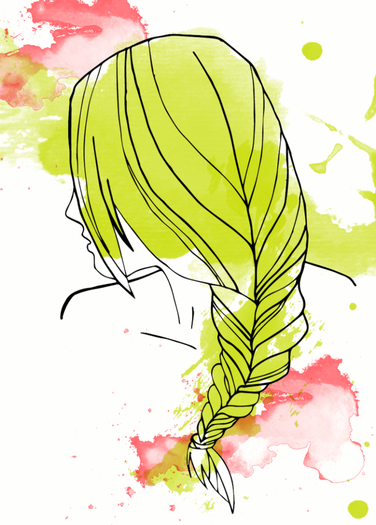 Fishtail ponytail, summer hairstyle