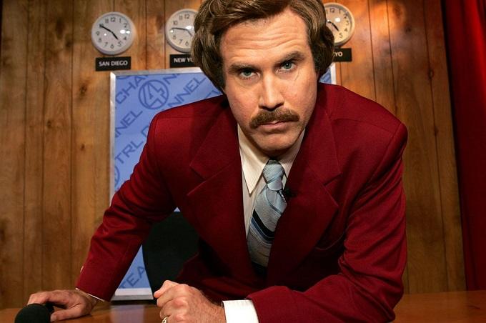 Anchorman Ron Burgundy Mustache