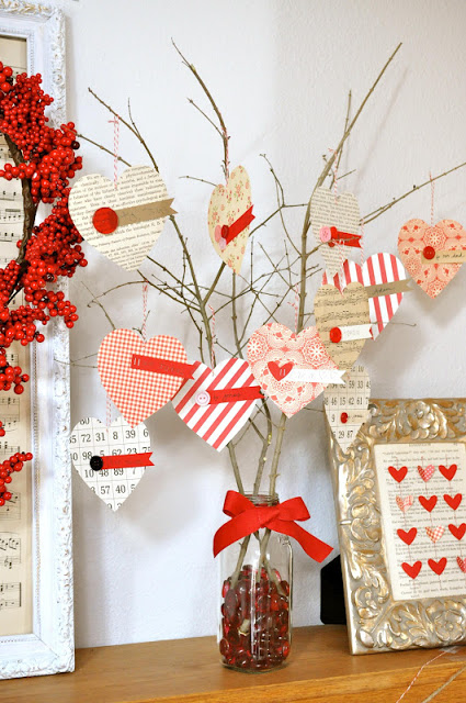 valentine craft heart tree family