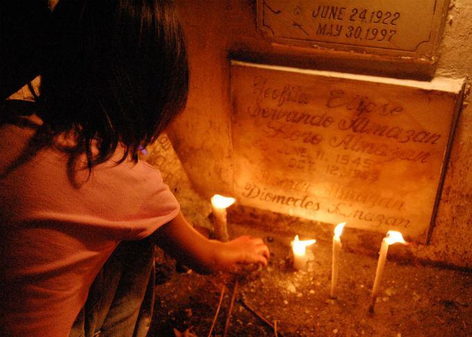Undas Filipino Kid With Candle